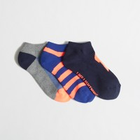 Boys' three-pack lightning bolt socks