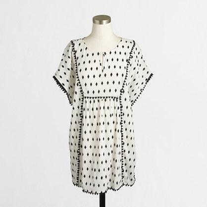 Printed pom-pom tunic