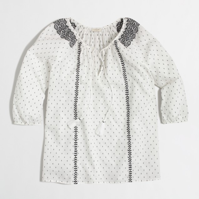 Embroidered beach top