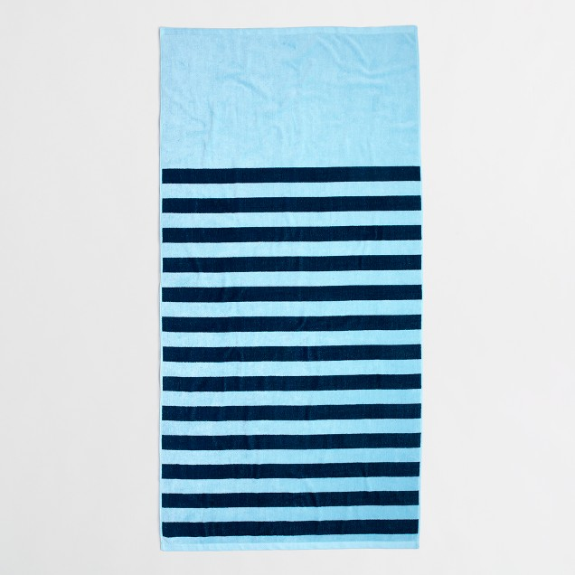 Large beach towel in stripe