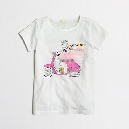 Girls' motor chic keepsake t-SHIRT