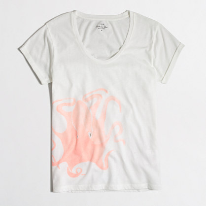Watercolor octopus collector t-SHIRT in airy cotton