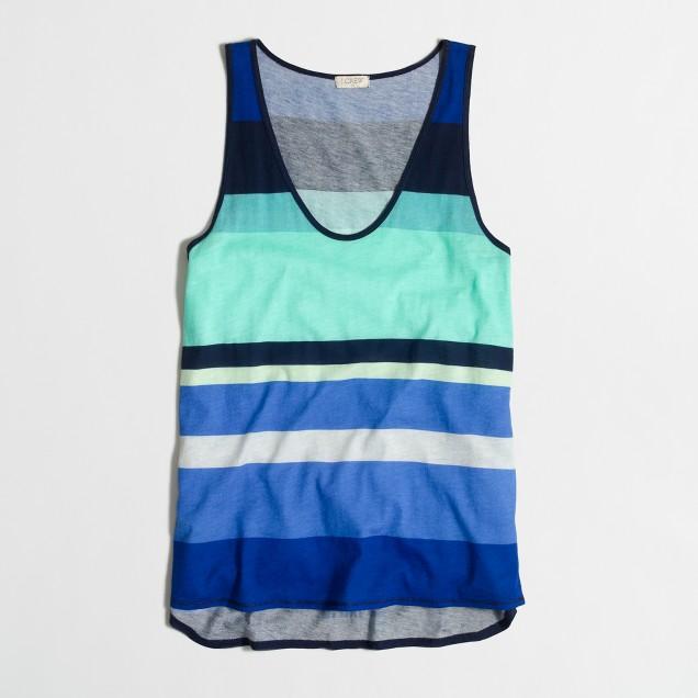Cotton-Modal® layering tank in stripe