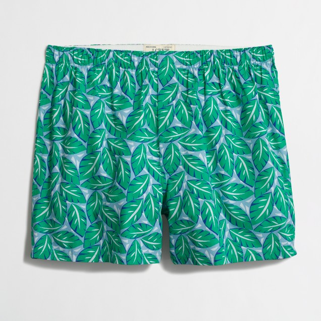Tropical leaves boxers