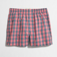 Red and blue gingham boxers
