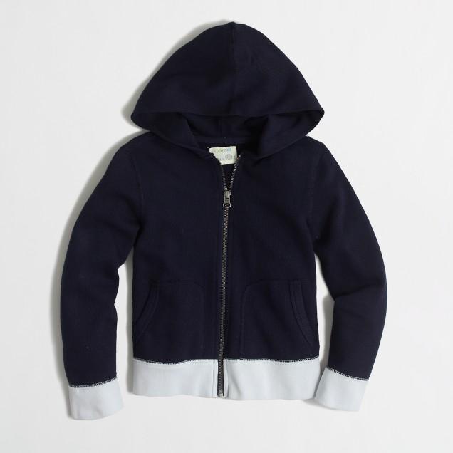 Boys' colorblock full-zip hoodie