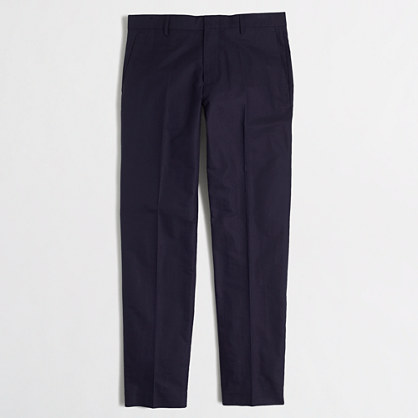Slim Thompson suit pant in cotton piqué