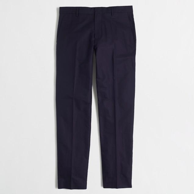 Slim Thompson suit pant in cotton piqué