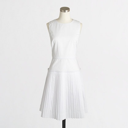 Pleated dress : Dresses | J.Crew Factory