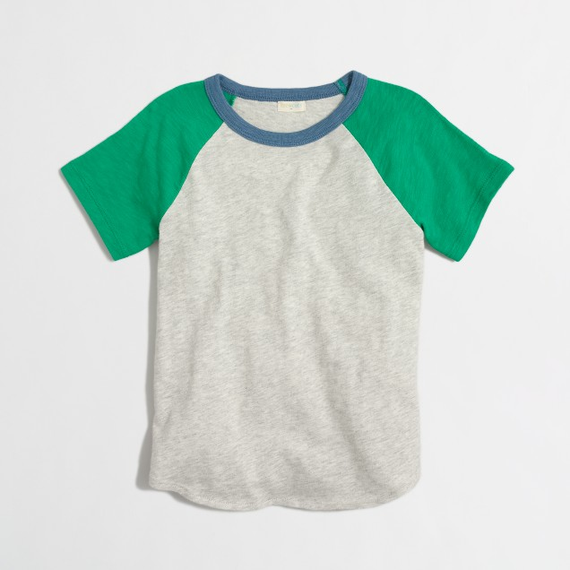 Boys' raglan baseball crewneck short-sleeve t-SHIRT