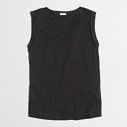 Factory drapey rolled-sleeve tank top