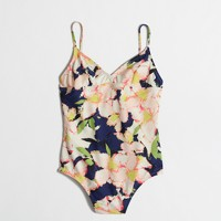 One-piece swimsuit in floral