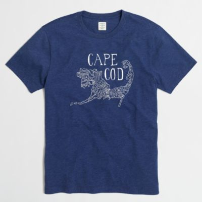 Cape Cod Apparel: Cape Cod Map T-SHIRT :
