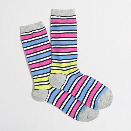 Multistripe trouser socks