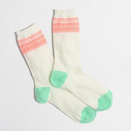 Stripe-trim trouser socks