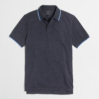 Slim heathered tipped piqué polo shirt