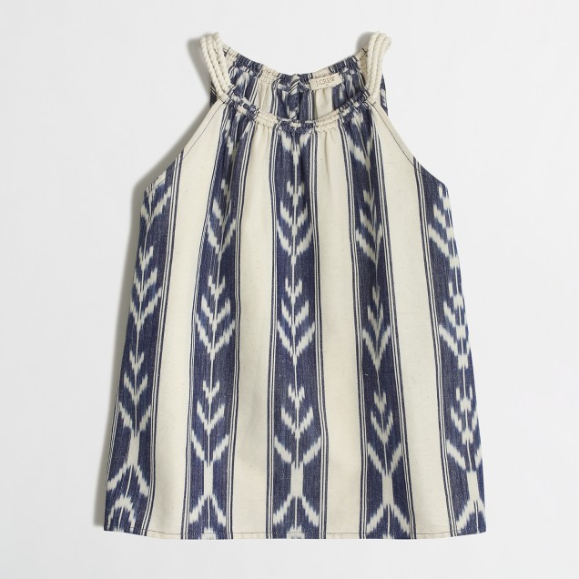 Ikat rope-strap cami top