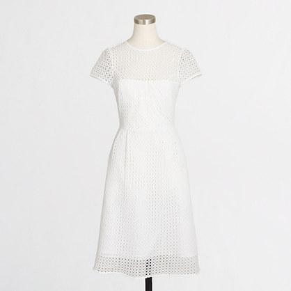 Eyelet dot dress