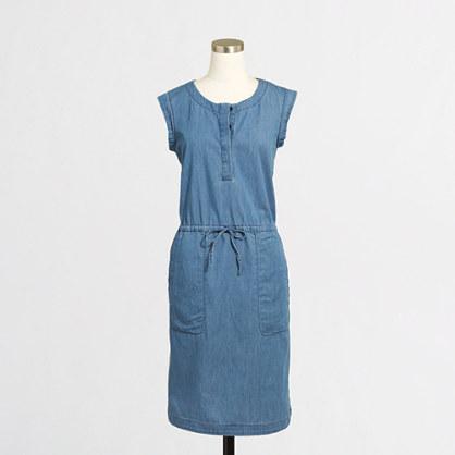 Drapey chambray dress