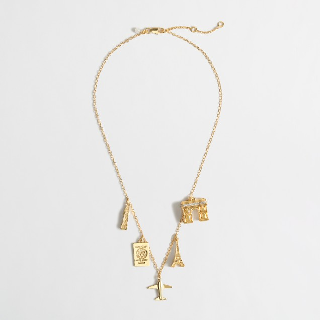 Girls' paris charm necklace