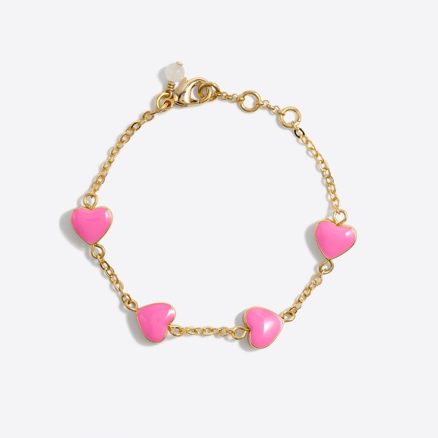 Girls' enamel multiheart bracelet