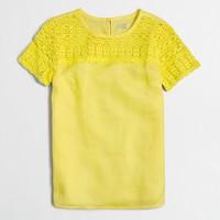 Linen lace t-shirt
