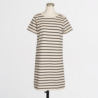 Factory striped knit tee dress