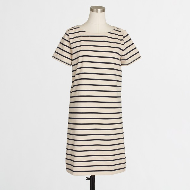 Striped T-shirt dress with zippers