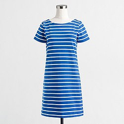 Factory striped T-shirt dress with zippers