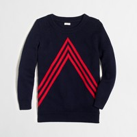 Chevron intarsia sweater