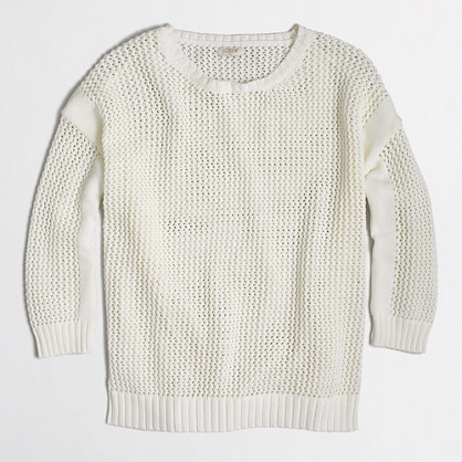 Open-knit beach sweater
