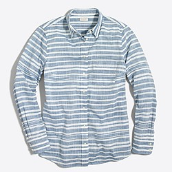 Striped gauze boy shirt
