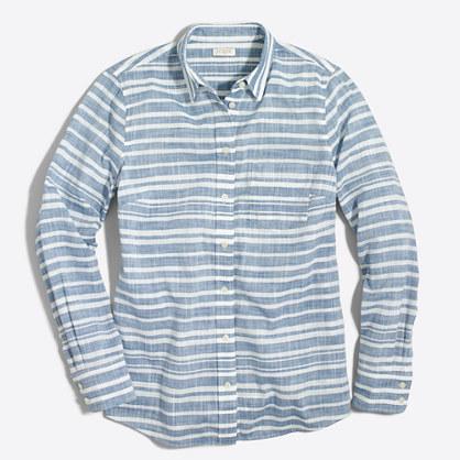 Petite striped gauze boy shirt