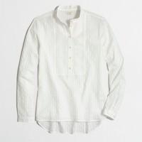 Textured placket shirt