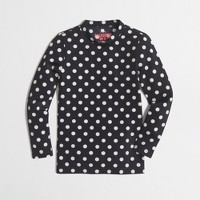 Girls' rash guard in large dot