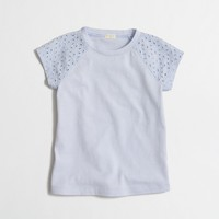 Girls' eyelet sleeve t-SHIRT