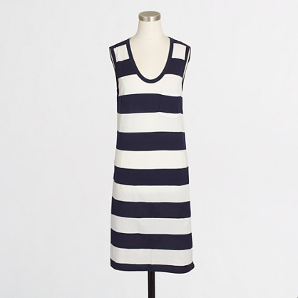 Striped pocket tank dress