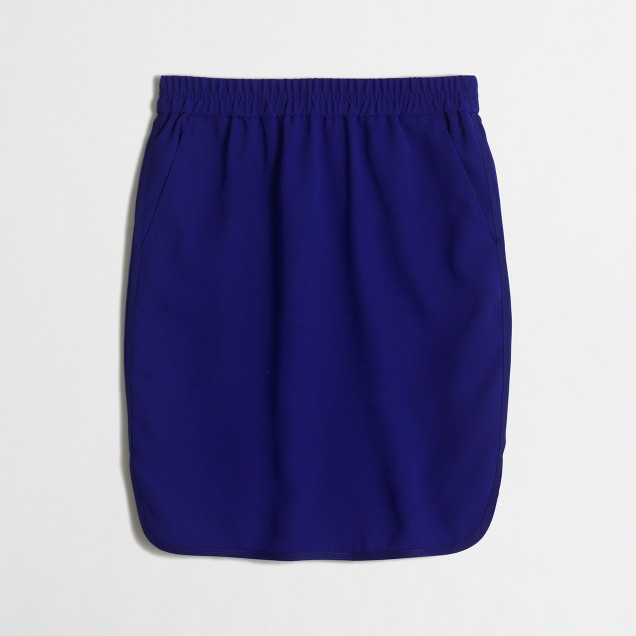 Petite crepe pencil skirt with curved hem