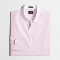 Slim white-collar washed shirt