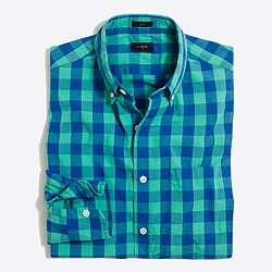 Slim washed shirt in oversized gingham