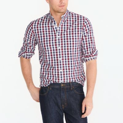 Slim washed shirt in oversized gingham factorymen new arrivals c