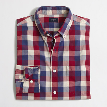 Tall gingham washed shirt