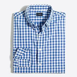 Gingham washed shirt