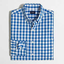 Factory gingham washed shirt