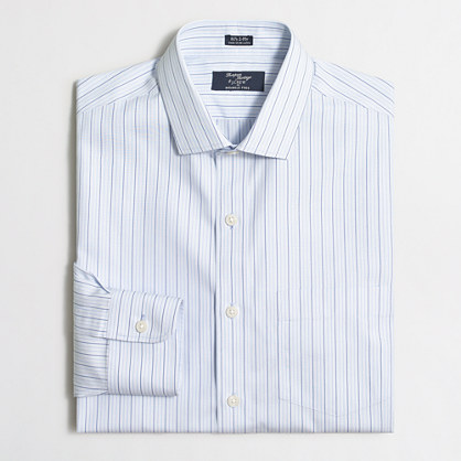 Wrinkle-free Voyager dress shirt in triple stripe