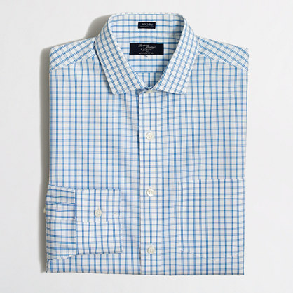 Thompson Voyager dress shirt in tattersall