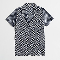 Factory printed short-sleeve pajama shirt