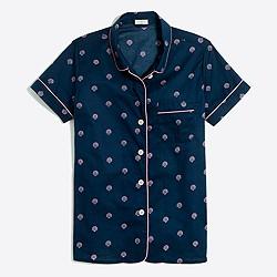 Printed short-sleeve pajama shirt