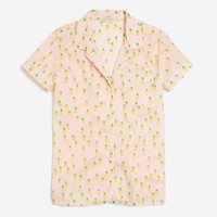 Printed short-sleeve pajama shirt