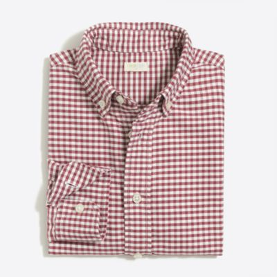 Boys' patterned oxford shirt